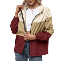 Women's Jackets Hooded Matching Color Waterproof Clothing Outdoor Sports Mountaineering Wear Raincoat Casual Coat Jacket Woman
