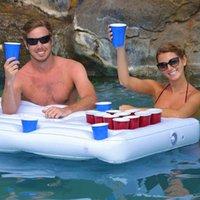 풍선 수레 튜브 여름 파티 양동이 컵 홀더 풀 플로트 맥주 음료 쿨러 테이블 바 트레이 휴대용 해변 수영 링 액세서리