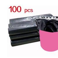 (596A12) Sacos de lixo doméstico x100 desperdício de plástico descartável Saco de consumo familiar limpo