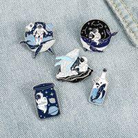 Email Broschen Pins Whal astronaut Brosche Revers Pin Abzeichen Modeschmuck Geschenk Für Frauen Kinder Willen und Sandy