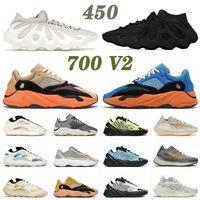 adidas yeezy boost 450 700 380 مع صندوق 2021 أعلى جودة أحذية الجري Kanye 450 سحابة بيضاء داكنة الأردواز 700 V2 كريم الكيانيت رجل إمرأة 380 أحذية رياضية رياضية