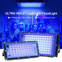 Illight LED UV 50W 100W IP65 Luces de inundación fluorescente ultravioleta a prueba de agua con interruptor para la barra Halloween Party