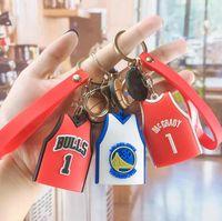 لطيف الإبداع كرة السلة المفاتيح كيرينغ الأزياء الكرتون 3 اللون جيرسي حقيبة مفتاح السيارة كنز الصبي الصغير