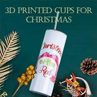 3D طباعة 20 أوقية الفولاذ المقاوم للصدأ التسامي عيد الميلاد أهان زجاجة ماء مع غطاء و سترو يمكن القيام به diy logo FY4757
