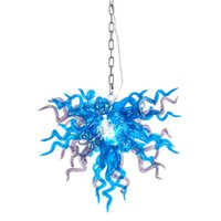 Art Deco Lamps LED Crystal Chandeliers Home Decor Lighting Hand Blown Murano Glass Chandelier Pendant Lamp for Bedroom Decoration