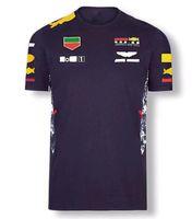 F1 Team Racing T-shirt Poliestere Asciugatura rapida Verrstappen Ventilatori a manica corta a manica corta Downhill Jersey STESSO STYLE Personalizzazione