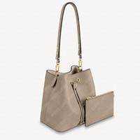 최고 품질 2pcs womens 양동이 가방 지갑 중간 핸드백 totes 정품 가죽 2 색 양각 된 편지 숙녀 숄더 가방 문자열 가방