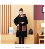 Women's Trench Coats 2021 Spring And Autumn Korean Letters Printed Button Hooded Windbreaker Jacket Cloak Clothing