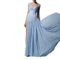 Sexy Wedding Dresses thigh-high slits one-shoulder applique Wedding Gown floor length Hot Sell Sweep Train Custom Made Vestidos De Novia Hot Sell