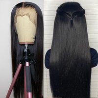 13*4 Lace Wigs Natural straight Human Hair Wigs Brazilian Front Wig 150% Density With Baby Hair Remy