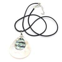 Кулон ожерелья натуральная мать жемчужиной оболочки ожерелье в форме капли воды сращивание для женщин мужчин подвески ювелирные изделия