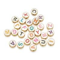 100 шт. / Лот Смешанный стиль красочные буквы круглые свободные разные бусины для ювелирных украшений DIY браслет ручной работы аксессуары
