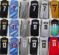 "2021 Männer Brooklyn ""NETS"" Basketball Jersey Kevin Kyrie 7 Durant 11 Irving 13 Stadt Harden Drazen 3 Petrovic 72 Biggie Retro ""NBA"" Trikots"
