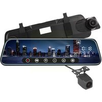 Car Rear View Cameras& Parking Sensors 10 Inches DVR Screen Stream Media Dual Lens Dash And Front Mirror Video Cam Camera Rearview For