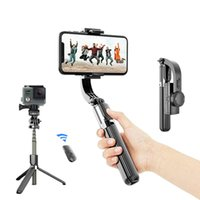 Outmix 2021 Telefon Kamera Sabitleyici El Gimbal Smartphone Stabilizatörler Video Kayıt Bluetooth Selfie Stick Tripod Vlog Live
