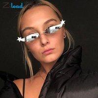 Óculos de sol Zilead estrelas decorativas óculos característicos estilo punk quadro de metal silicone macio pad moda confortável