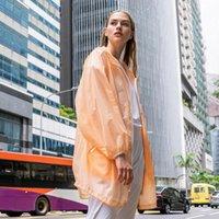 Women's Trench Coats Bosideng Leisure Large Profile Long Coat Fashion Hooded Breathable Sunscreen Summer Ultralight
