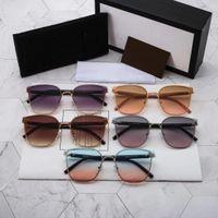 Premium Brand Solglasögon UV400 Polariserad Lens Metal Full Frame Eyeglasses Fashion Men's and Women's Eyeglasses With Brand Present Box