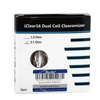 Iclear 16 ClearoMizer mit Dual Coil Zerstäuber Elektronische Zigarette Ecig Runde Mund 1,6 ml 2.1Ohm Wiederaufbau 2021