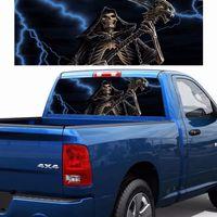 Gökindi Kafatası Arka Pencere Cam Araba Sticker SUV Araba Pikap Kişilik Modifiye Autos Çıkartmaları Anti-Yüksek Işın