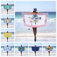 Retangel Beach Tuch Bunte Handtuch Mikrofaser Decke Schwimmen Handtücher Gedruckt Erwachsener Badetuch Blatt Muster Sport Badetücher FWD5524