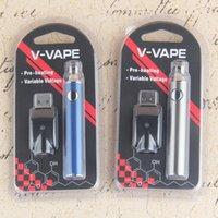 V-Vape LO Préchauffe VV Batterie Blister Kit 650mAh Tension de variable avec chargeur USB pour une cartouche d'huiles d'huile d'épaisseur de 510 cire