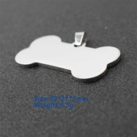 chain Stainless Pet Steel 40*21mm Blank Id Key Tags Personalized Dog Tags Cat Tags Can Engraved Front Back Key Ring Desi