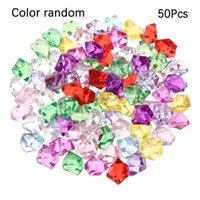 Decorations Colorful 50Pcs bag 1.4*1.1cm Aquarium Acrylic Stones Crystal Ice Cubes Decor Vase Filler Pebble Fish Tank Home Ornament