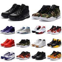 Mamba 1 Protro ZK1 Niños para hombre Zapatos de baloncesto Hombres Camo Negro Verde Top Top Calidad Uno 1s Entrenadores Deportes Sneakers Tamaño 40-46