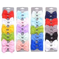 Hair Accessories 10 Pcs set Grosgrain Ribbon Bows With Clip For Cute Baby Girls Colorful Clips Hairpins Barrettes Kids