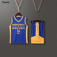 Jerseys de basquete crianças conjunto de basquete uniforme de futebol meninos meninos camisas esporte shorts equipe jersey sportswear retrocesso 2020 novo