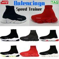 Balenciaga Speed Speaker Homme Chaussettes Chaussures Platform Chaussures Fashion Casual Entraîneurs en extérieur Triple Rouge Noir Blanc Blanc Hommes Femmes Sport Sneaker US 6-12