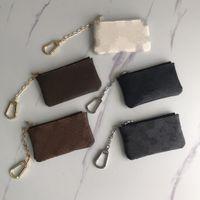 Designers Womens Bolsa Key Bolsa M62650 PoChette Moda Mulheres Anel Titular de Cartão de Crédito Mini Carteira Charme Brown Canvas Moeda Bolsa Caixa Original LB138