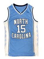 Transporte de nós Vince Carter # 15 Jersey de Basquete North Carolina Tar Heels Jerseys Homens Azul Costurados Série S-3XL Top Quality