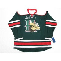 Custom Custom Custom Halifax Mooseheads QMJHL Vert Troisième Premier Premier Hockey Jersey Stitch Ajouter n'importe quel numéro N'importe quel nom Nom Mens Hockey Jersey XS-6XL