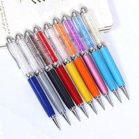 أقلام حبر جاف جودة عالية 1 قطع الكريستال القلم متعددة الوظائف اللمس هلام الرول الكرة القرطاسية الكرة نقطة 0.5 ملليمتر قطرة