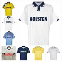 1991 1993 1994 1995 Gascoigne Klinsmann Retro Soccer Jersey 90 91 Mabbutt Ruddock Sheringham Lineker Cundy Walsh Barmby Vintage Camisa de Futebol Clássico