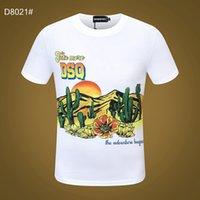 DSQ PHANTOM TURTLE SS Mens Designer T shirt Italian fashion Tshirts Summer DSQ Pattern T-shirt Male High Quality 100% Cotton Tops 60205