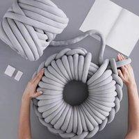 Atkılar 500g Süper Kalın Tıknaz İplik Pamuk Tüp Merino Yün Alternatif DIY Hacimli Kol Örme Battaniye El Spin