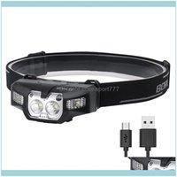 المصابيح الأمامية والمشي لمسافات طويلة الرياضة outdoorsheadlamps b30 headlamp قوية xpg2 / 3030 led usb قابلة للشحن المصباح الجسم الاستشعار رئيس ضوء