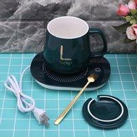 TAPA DE CAFE DE CAPULAR / USB USB de 450 ml de EE. UU. Con una cuchara y un conjunto de termostato de 55 grados