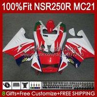 Inyección OEM para HONDA NSR250 NSR 250 R MC21 PGM3 NSR250R 90 91 92 93 103HC.38 NSR 250R NSR250RR 1990 1991 1992 1993 Failings Rojo blanco caliente