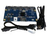 1 إلى 5 SATA موصل محول SATA2.0 ميناء ميناء بطاقة مضاعف ساتعي واجهة الكمبيوتر التمديد هارب محور XCH BHD