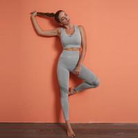 Dikişsiz Yoga Set Spor Tayt Spor Sutyen Kadın Eşofman Çalışma Out Egzersiz Giyim Atletik Kadın Sportwear Için Takım Elbise