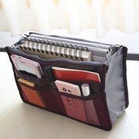 Оптовые- Высококачественные косметические сумки вставьте сумочку Организатор Кошельтена Большой вкладыш Tidy Организатор Сумка Портативный Путешествия Сделайте сумки для W 06VT #
