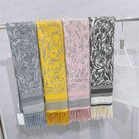 Designer Schal Briefschals für Mann Frau Modeschal Langer Hals 4 Farbe Top Qualität