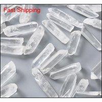 100G Tibet Натуральный четкий кристалл белый кварцевый кластерные точки столбца столбца расторженной палочкой образец лечения Qylkup Toys2010