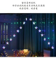 Inverted v curtain led bedroom living room decorated with star lights string.