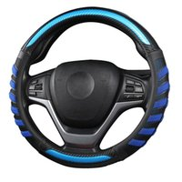Steering Wheel Covers Easy Install Universal Gift Soft Styling Non Slip Round 3D Breathable Car Cover Protector Interior Decor