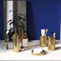 Conjunto de accesorios de baño Accesorios de baño 304 Sozo de acero inoxidable Dispensador de jabón Dispensador Tenedor de cepillo de dientes Gargle Copa Oro Acabado